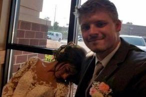 دسته گل زیبا عروس را به بیمارستان کشاند! + عکس