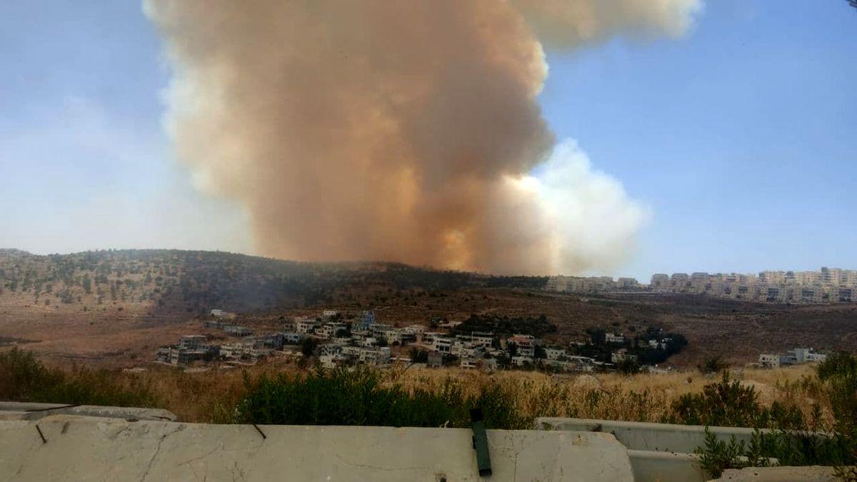 شهرکهای صهیونیستی درجنوب غرب قدس در محاصره آتش