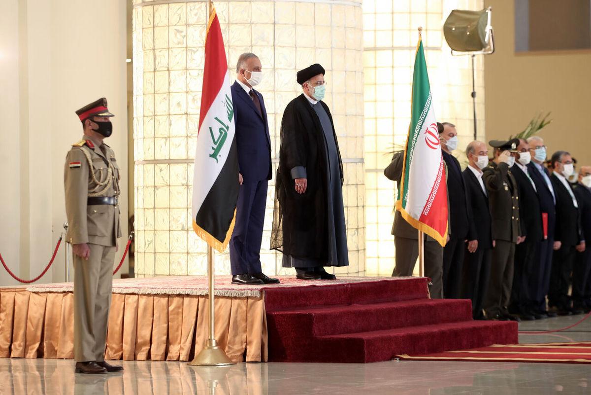 استقبال رسمی آیت الله رییسی از نخست وزیر عراق
