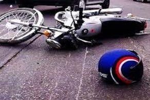 واژگونی موتورسیکلت در بزرگراه خلیج فارس