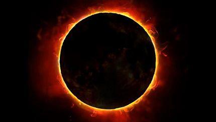 وقوع پدیده حلقه آتشین به دور خورشید