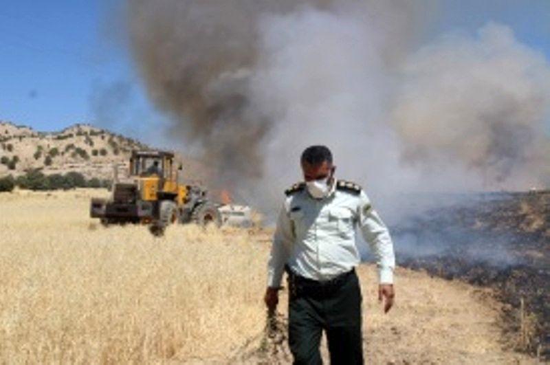 مامور پلیس از آتش سوزی گسترده جلوگیری کرد