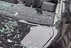 سقوط جوان نا امید از طبقه نهم روی خودرو میلیاردی + عکس