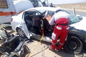 تصادف زنجیرهای در بزرگراه آزادگان تهران